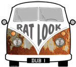 RAT LOOK Slogan For Retro SPLIT SCREEN VW Camper Van Bus Design External Vinyl Car Sticker 90x80mm